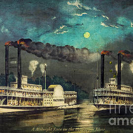 Lianne Schneider - Steamboat Racing on the Mississippi