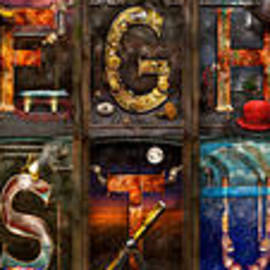 Mike Savad - Steampunk -  Alphabet - Banner Version Complete