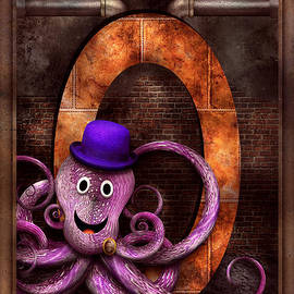 Mike Savad - Steampunk - Alphabet - O is for Octopus