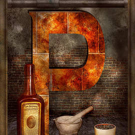 Mike Savad - Steampunk - Alphabet - P is for Pharmacy