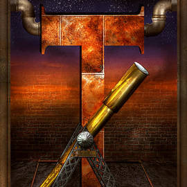 Mike Savad - Steampunk - Alphabet - T is for Telescope