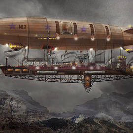 Mike Savad - Steampunk - Blimp - Airship Maximus