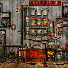 Mike Savad - Steampunk - Coffee - The company coffee maker