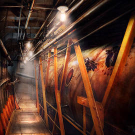 Mike Savad - Steampunk - Plumbing - The hallway