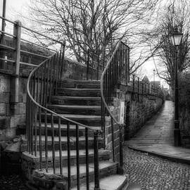 Ann Garrett - Steps up to the Old City Wall in Chester