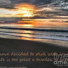 Sandra Clark - Stick with Love  on a Beach Sunrise