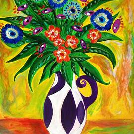 Hesi Glowacki - Still Life abstract with flowers
