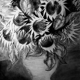 Jose A Gonzalez Jr - Still Life - Vase with Ten Sunflowers