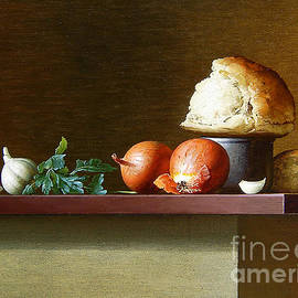 Stanislav Plonish - Still-life with bread and parsley