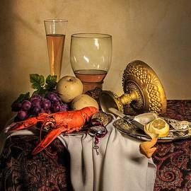 Levin Rodriguez - Still Life with Gilded Cup Roemer and Seafood