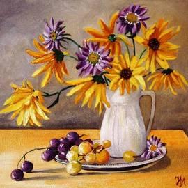 Nina Mitkova - Still life with grapes