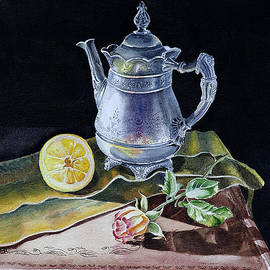 Irina Sztukowski - Still Life With Lemon And Rose