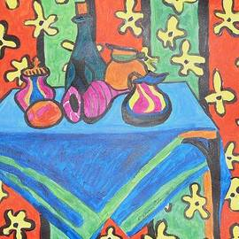 Esther Newman-Cohen - Still Life with Pitchers au Matisse