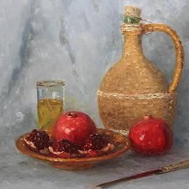 Alexander Alexandrovsky - Still life with pomegranates