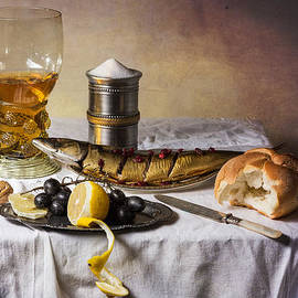 Levin Rodriguez - Still Life with Roemer-Great Salt-Fish and Bread