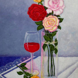 Madalena Lobao-Tello - Still life with roses