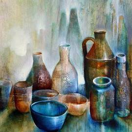 Annette Schmucker - Stillleben mit blauer Schale