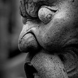 Colin Utz - Stone Head Sculpture at the Temple of the Emerald Buddha - Bangkok Thailand