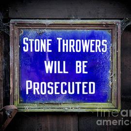 Adrian Evans - Stone Throwers Be Warned