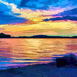 Bill Caldwell -        ABeautifulSky Photography - Storm Clouds at Sunset 3 - Painterly