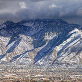 Gary Whitton - Storm Front Passes over the Wasatch Mountains and Salt Lake Valley - Utah