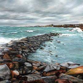 Eileen Patten Oliver - Storm in Rockport Harbor