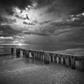 Bradley R Youngberg - Storm Over Naples Florida Beach