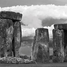 Denise Dube - Storm Over Stonehenge bw By Denise Dube