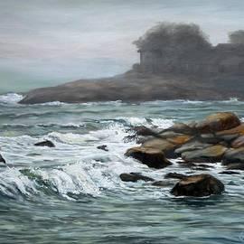 Eileen Patten Oliver - Stormy Day At Old Garden Beach
