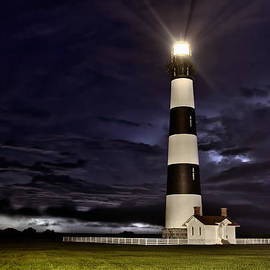 Dan Carmichael - Stormy Morning at Bodie Lighthouse