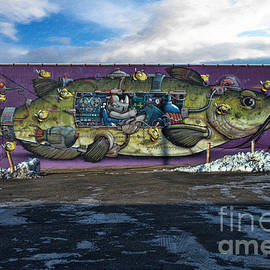 Liane Wright - Street Graffiti - Fish Art