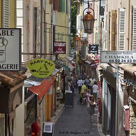 Allen Sheffield - Street Scene in Antibes