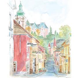 Joan Sharron - Street scene in Grein Austria