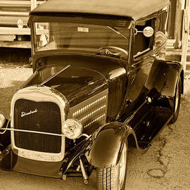 M K  Miller - Streetrod Ford Classic Car Automobile Grill in Sepia 3013.01