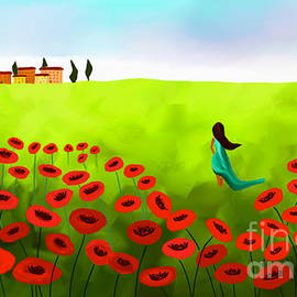 Anita Lewis - Strolling Among The Red Poppies