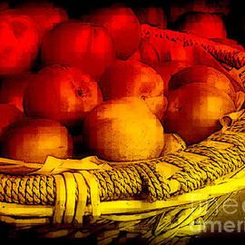 Miriam Danar - Summer Fruits - Peaches in Basket