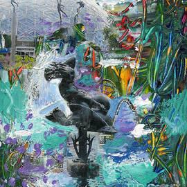 Genevieve Esson - Sun Glitter Mermaid Rides A Dolphin