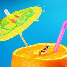 Paul Ge - Sunbather On Orange miniature art