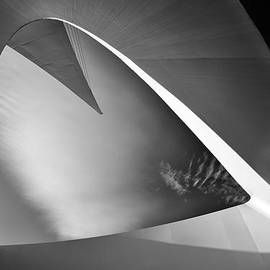 Leland D Howard - Sundial Bridge BW 1