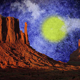 EricaMaxine  Price - Sundown in Monument Valley - Features in Contours and Silhouttes and A Place for All