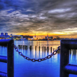 Joann Vitali - Sundown on Boston Harbor