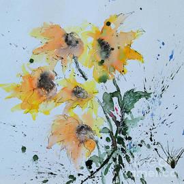 Ismeta Gruenwald - Sunflower- Flower Painting