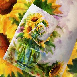 Georgiana Romanovna - Sunflower Print On Print On Print