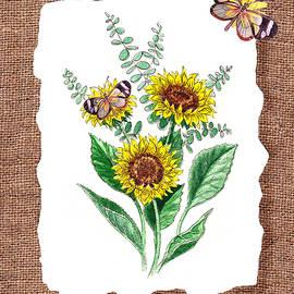 Irina Sztukowski - Sunflowers And Butterflies