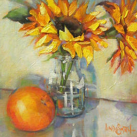 Linda Smith - Sunflowers and Orange