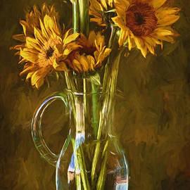 John Rivera - Sunflowers and Vase