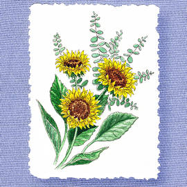 Irina Sztukowski - Sunflowers Botanical Impressionism