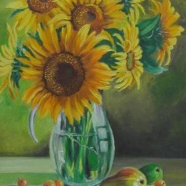Nina Mitkova - Sunflowers in glass jug