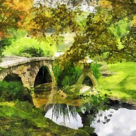 Susan Savad - Sunlit Bridge in Park