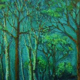 Mary Wolf - Sunlit Woodland Path